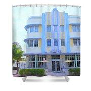The Marlin Hotel Shower Curtain