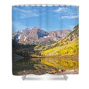 The Maroon Bells Near Aspen Colorado Shower Curtain