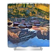 The Maroon Bells Reflected Shower Curtain