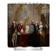 The Marriage Of The Duke And Duchess Of York Shower Curtain by Henry Singleton