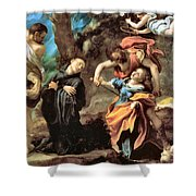The Martyrdom Of Four Saints Shower Curtain