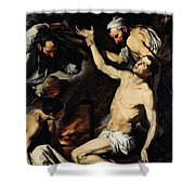 The Martyrdom Of Saint Lawrence Shower Curtain by Jusepe de Ribera