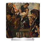 The Martyrdom Of Saint Mena Shower Curtain