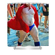 The Masked Super Hero Racer  Shower Curtain