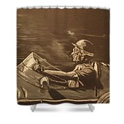 The Master Fangio At The Green Hell Shower Curtain