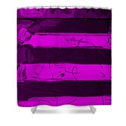 The Max Face In Purple Shower Curtain