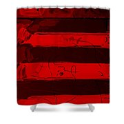 The Max Face In Red Shower Curtain