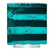 The Max Face In Turquois Shower Curtain