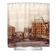 The Mayfloer Pub Rotherhithe London Shower Curtain