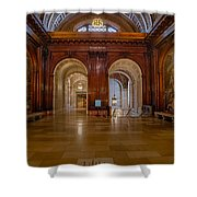 The Mcgraw Rotunda At The New York Public Library Shower Curtain