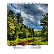 The Meandering Moose River Shower Curtain