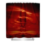 The Meditator Shower Curtain by Peter R Nicholls