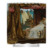 The Meeting Of Antony And Cleopatra  41 Bc Shower Curtain