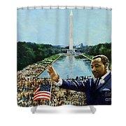 The Memorial Speech Shower Curtain by Colin Bootman