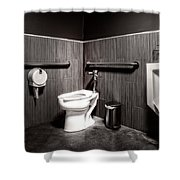 The Mens Room Shower Curtain by Bob Orsillo