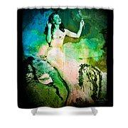 The Mermaid Mirror Shower Curtain