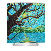 The Mermaid Tree Shower Curtain
