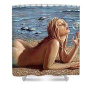 The Mermaids Friend Shower Curtain