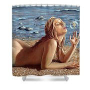 The Mermaids Friend Shower Curtain