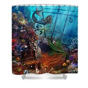 The Mermaids Treasure Shower Curtain