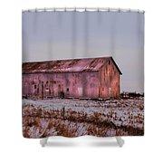 The Metal Barn Shower Curtain