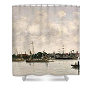 The Meuse At Dordrecht Shower Curtain