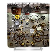 The Midway Throttle Board Shower Curtain