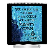 The Mighty Celtic Ocean Shower Curtain