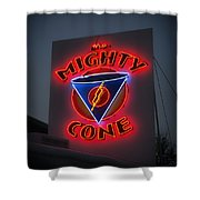 The Mighty Cone Of Austin Texas Shower Curtain