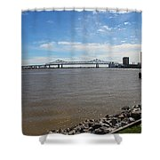 The Mighty Mississippi Shower Curtain