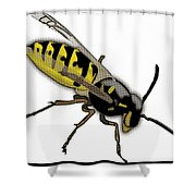 The Mighty Wasp Shower Curtain