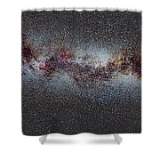 The Milky Way From Scorpio And Antares To Perseus Shower Curtain by Guido Montanes Castillo