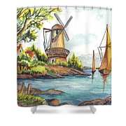 The Olde Mill Shower Curtain