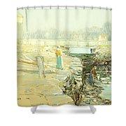 The Mill Dam Cos Cob Shower Curtain