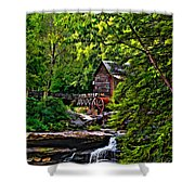 The Mill Paint 2 Shower Curtain