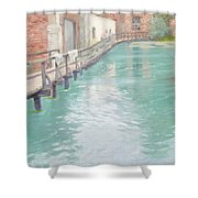 The Mills At Montreuil Sur Mer Normandy Shower Curtain by Fritz Thaulow