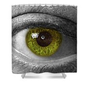 The Minds Eye Black And White Shower Curtain