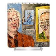 The Mirrored Truth Shower Curtain by Valerie Ornstein