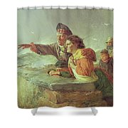 The Missing Boat, C.1876 Shower Curtain