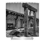 The Mission Bell B/w Shower Curtain