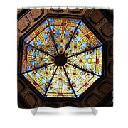 The Mission Inn Looking Up Shower Curtain