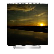 The Missouri River At Sunset South Of Culbertson Mt  Shower Curtain