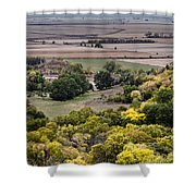 The Missouri River Valley Shower Curtain