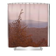 The Misty Mountains On A Misty Day Shower Curtain
