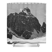 1m3523-bw-the Mitre Shower Curtain