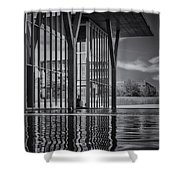 The Modern Bw Shower Curtain