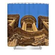 The Monastery In Petra Shower Curtain