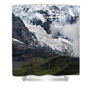 The Monk - Swiss Bernese Alps Shower Curtain