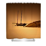 The Mont Saint-michel Bay At Sunset Shower Curtain