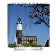 The Montauk Point Lighthouse Shower Curtain